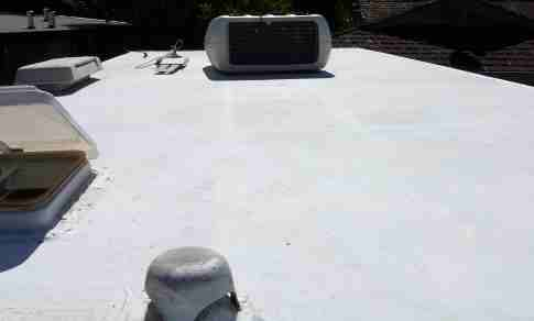 Rubber Roof Post Cleaning