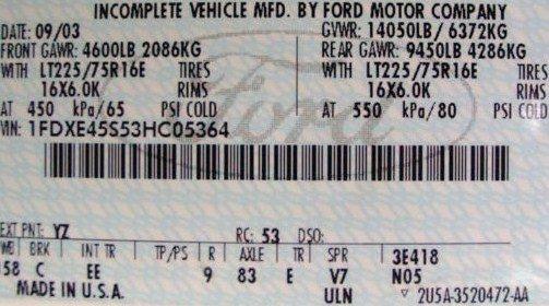 Ford VIN